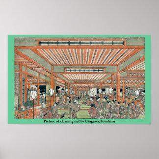 Imagen de limpiar por Utagawa, Toyoharu Poster