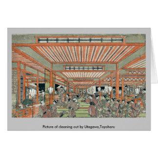 Imagen de limpiar por Utagawa, Toyoharu Tarjetón
