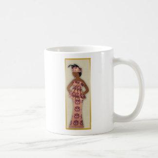 Imagen de llevar femenino, púrpura, rosa, oro en taza clásica