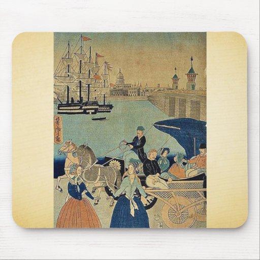 Imagen de Londres, Inglaterra por Utagawa, Yoshito Alfombrillas De Raton