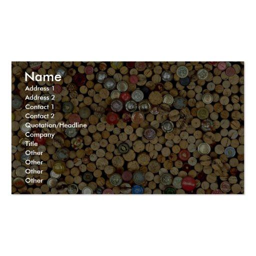 Imagen de los corchos del vino plantilla de tarjeta personal