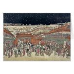 Imagen de los lugares famosos Japón por Utagawa, T Felicitacion
