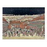 Imagen de los lugares famosos Japón por Utagawa, T Tarjeta Postal