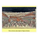 Imagen de los lugares famosos Japón por Utagawa, T Tarjetas Postales