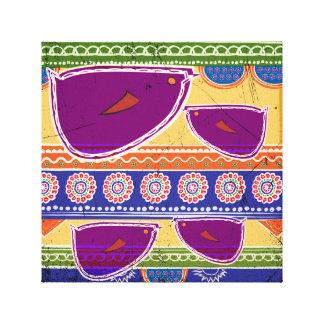 Imagen de los pájaros del batik impresión en lienzo