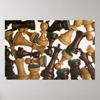 Imagen de los pedazos de ajedrez impresiones