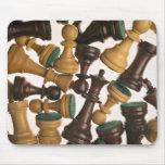 Imagen de los pedazos de ajedrez tapete de ratón