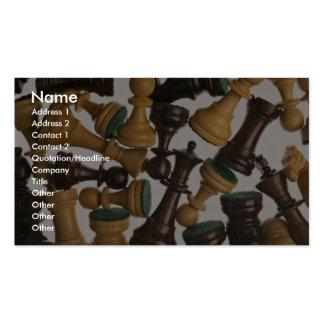Imagen de los pedazos de ajedrez tarjetas de visita