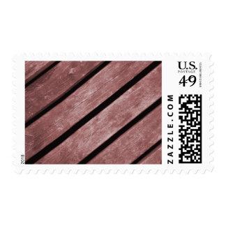 Imagen de los tablones rojizos del color de la franqueo