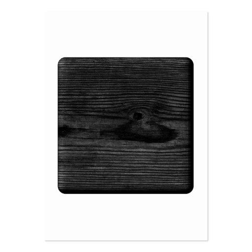 Imagen de madera negra tarjetas de visita grandes