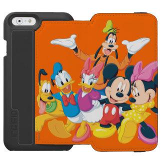 Imagen de Mickey y de los amigos el   perfecta Funda Billetera Para iPhone 6 Watson