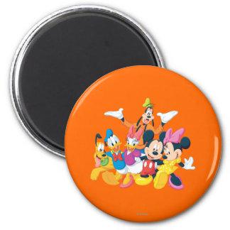Imagen de Mickey y de los amigos el | perfecta Imán Redondo 5 Cm