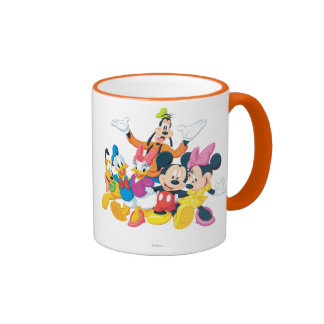 Imagen de Mickey y de los amigos el | perfecta Taza De Dos Colores