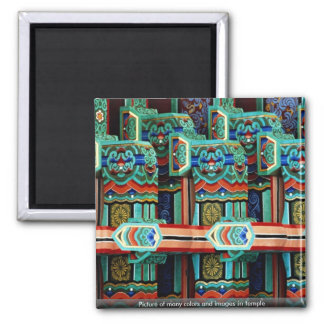 Imagen de muchos colores e imágenes en templo iman