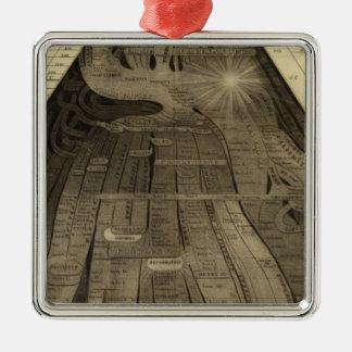 Imagen de naciones adorno navideño cuadrado de metal
