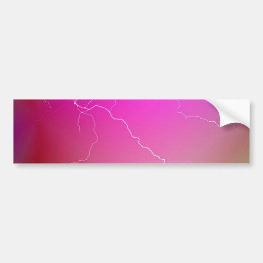 Imagen de neón rosada brillante abstracta del relá pegatina de parachoque