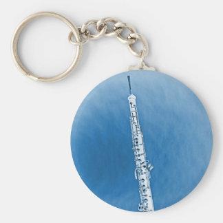 Imagen de Oboe en llavero azul del fondo