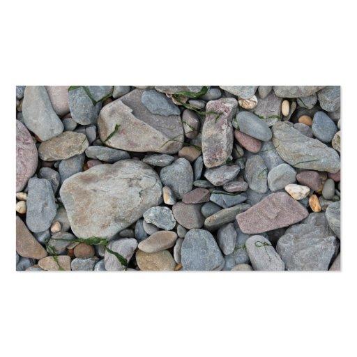 Imagen de piedras en una playa tarjeta de visita