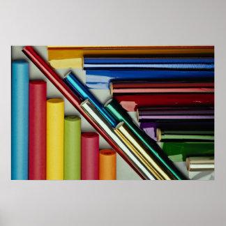 Imagen de Rolls de la hoja y del papel coloreados Impresiones