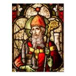 Imagen de San Patricio en el vitral Postales