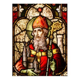 Imagen de San Patricio en el vitral Tarjetas Postales