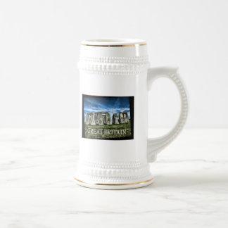Imagen de Stonehenge con el subtítulo Gran Bretaña Jarra De Cerveza
