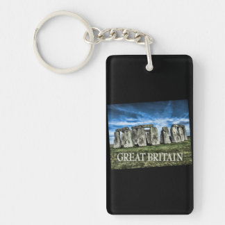 Imagen de Stonehenge con el subtítulo Gran Bretaña Llaveros