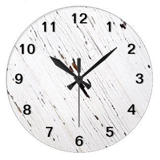 Imagen de tablones de la madera con la pintura sal reloj redondo grande