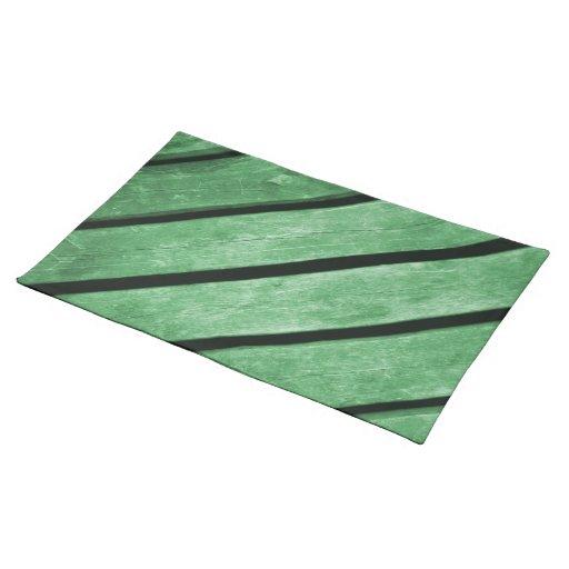 Imagen de tablones verdes de la madera manteles