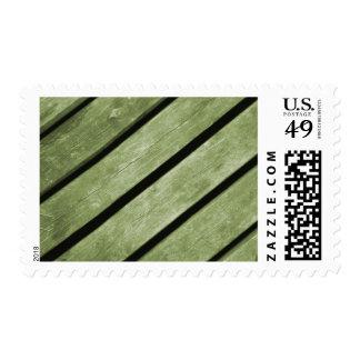 Imagen de tablones verdes de la madera sello