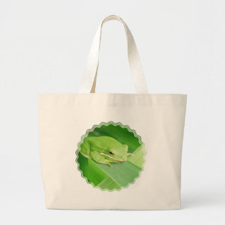 Imagen de un bolso de la lona de la rana arbórea bolsas