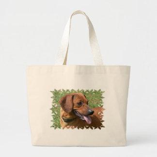 Imagen de un bolso de la lona del perro del Dachsh Bolsa Tela Grande