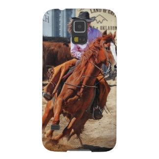 Imagen de un caballo y de una vaquera fundas de galaxy s5