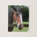 Imagen de un rompecabezas cuarto del caballo