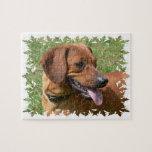 Imagen de un rompecabezas del perro del Dachshund
