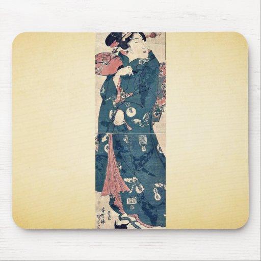 Imagen de una belleza japonesa por Utagawa, Toyoku Tapete De Ratones