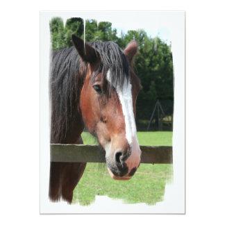 Imagen de una invitación cuarta del caballo