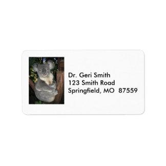 Imagen de una koala de ALerta Etiqueta De Dirección