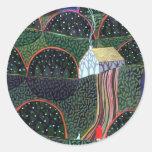 imagen de una pintura original del amigo de pegatina redonda