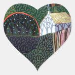 imagen de una pintura original del amigo de pegatina en forma de corazón