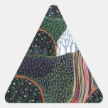 imagen de una pintura original del amigo de pegatina triangular