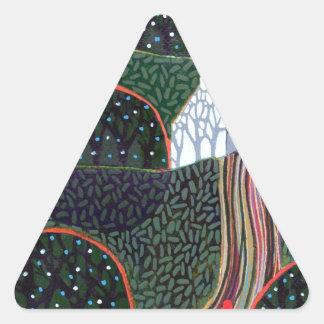 imagen de una pintura original del amigo de calcomanías triangulos personalizadas
