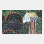 imagen de una pintura original del amigo de pegatina rectangular