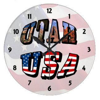 Imagen de Utah y reloj del texto de los E.E.U.U.