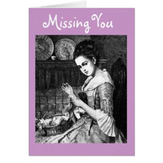 Imagen de Vntage de la tarjeta de felicitación de