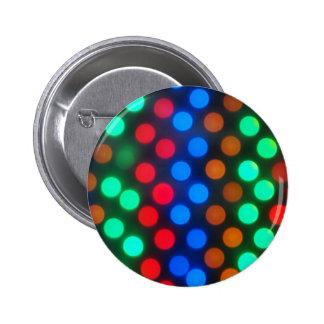 Imagen Defocused y de falta de definición de luces Pin Redondo De 2 Pulgadas