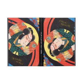 Imagen del actor del kabuki en el ukiyo plegable d iPad mini protectores