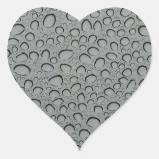 imagen del agua pegatina en forma de corazón