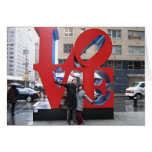 Imagen del amor NYC Tarjetas