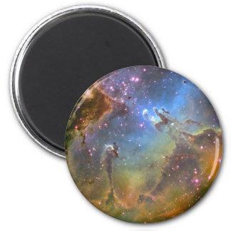 Imagen del Ancho-Campo de la nebulosa de Eagle Imán Redondo 5 Cm